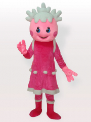 The Snow Pink Adult Mascot Costume