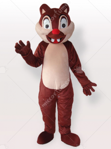 Tiny Brown Squirrel with Two Incisors Adult Mascot Costume