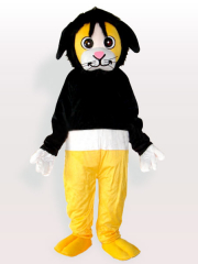 Tony Bear in Black Sweater Adult Mascot Costume
