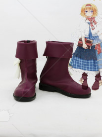 Touhou Project Alice Mori Girl Cosplay Shoes
