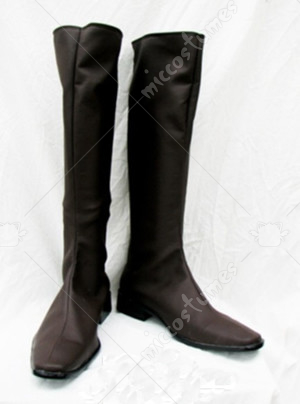 Trinity Blood Dark Brown Cosplay Shoes Boots