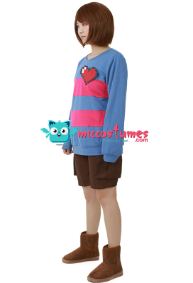 Blue and Red Stripes Cosplay Costume