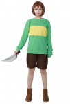 Chara Cosplay Costume(knife included)