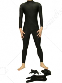 Black Unisex Detachable Zentai Suit