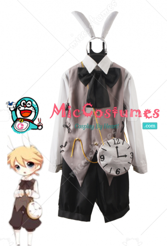 Vocaloid Kagamine Len Alice in Musicland Cosplay Costume