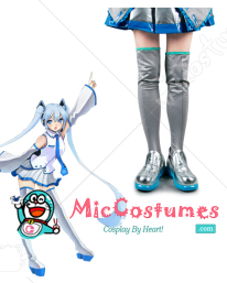 VOCALOID Family Snow Miku Cosplay Shoes