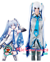 VOCALOID Family Snow Miku Cosplay Wig