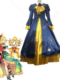 Vocaloid Kagamine Rin Blue And Yellow Cosplay Costume