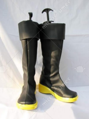 Vocaloid Kaito Cosplay Shoes Boots with yellow sole