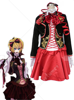 Vocaloid the sandplay singing of the dragon rin cosplay costume