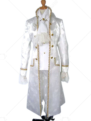White Anime Cosplay Costume