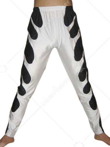 White Black Spandex Pants