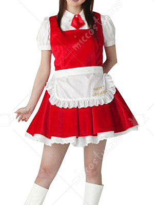 White Blouse And Red School Uniform Dress