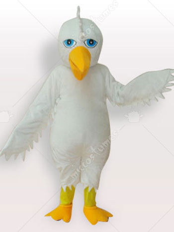 White Eagle Short Plush Adult Mascot Costume