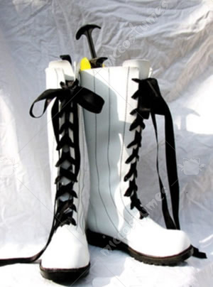 White PU Black Butler Kuroshitsuji Cosplay Shoes Boots