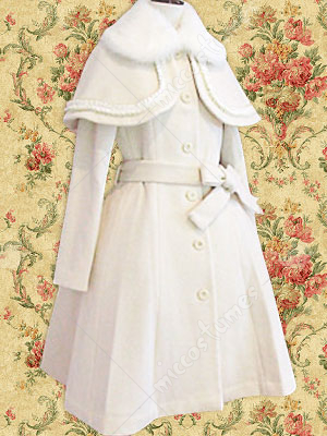 White Lolita Cosplay Overcoat