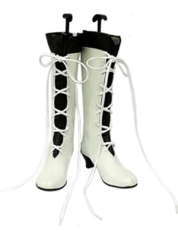White Pandora Hearts Alice Cosplay Shoes Boots