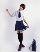 White Short Sleeves Japanese School Uniform