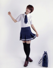 White Short Sleeves Japanese School Uniform