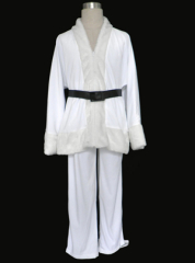 White two piece elder Christmas cosplay costume