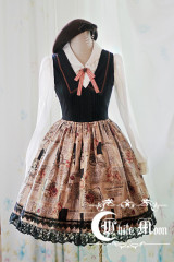 White Moon preppy style sailor collar vintage uniform dress