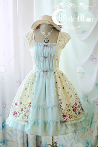 White Moon vintage lolita dress