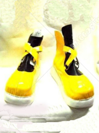 Yellow and Black Kingdom Hearts Sora Cosplay Shoes Boots