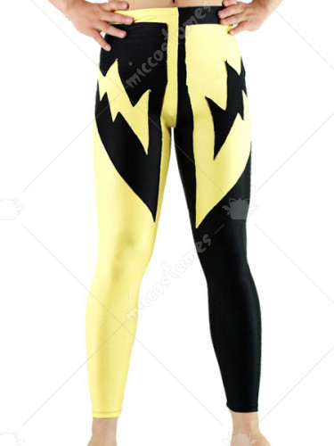 Yellow And Black Lycra Spandex Pants
