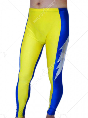 Yellow And Blue Spandex Pants