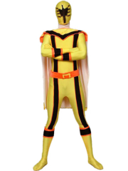 Yellow Lycra Spandex Super Hero Zentai Suit