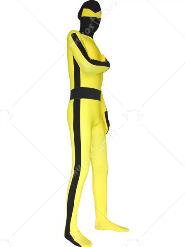 Yellow Spandex Zentai Suit