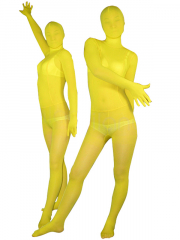 Yellow Velvet Unisex Zentai Suit