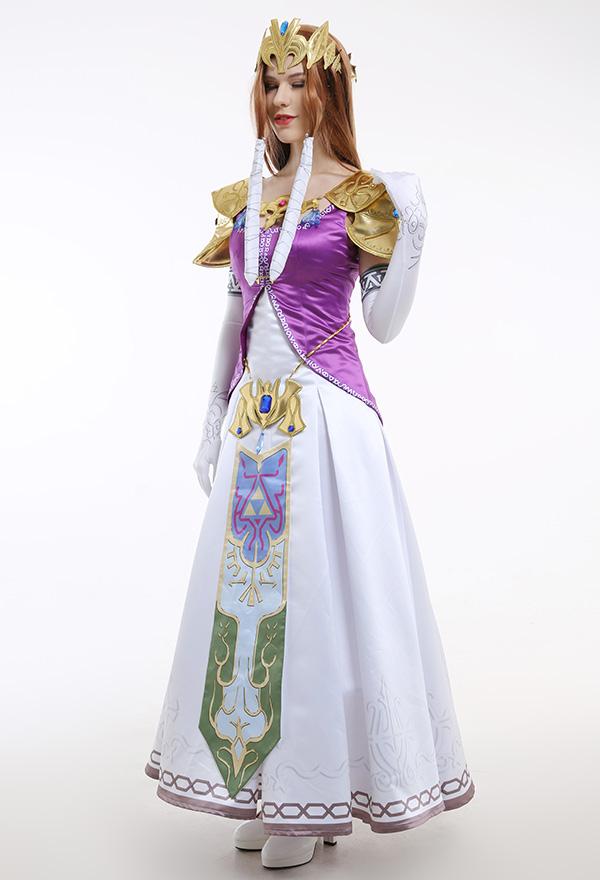 (Komplett Set)The Legend of Zelda Princess Zelda Cosplay Kostüme