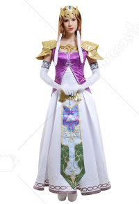 (Komplett Set)The Legend of Zelda Princess Zelda Cosplay Kostüme