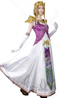 (Full Set)The Legend of Zelda Princess Zelda Cosplay Costume