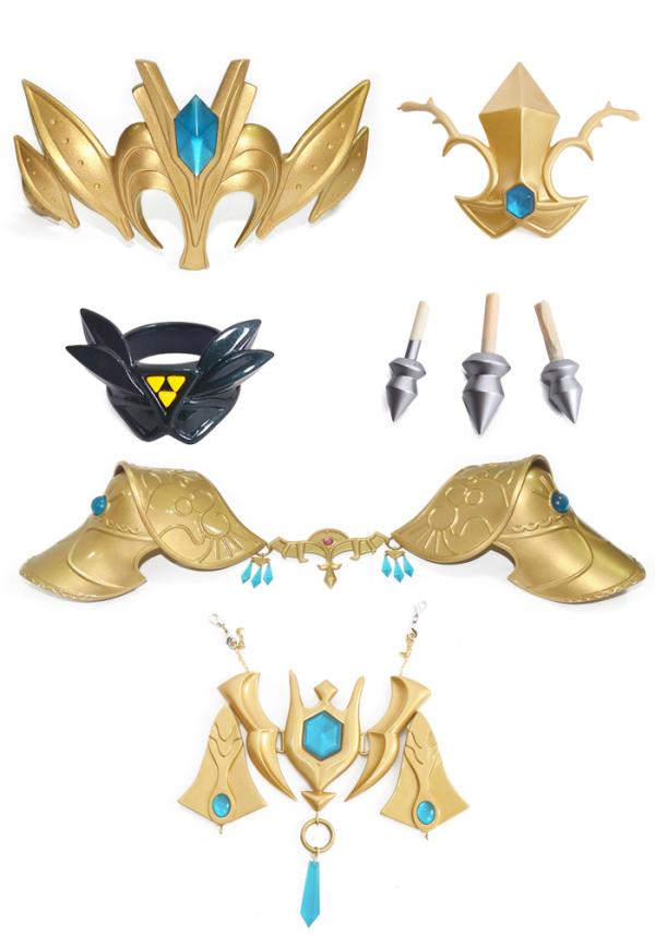 Die Legende von Zelda Prinzessin Zelda Cosplay Rüstungssets