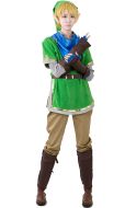 Zelda Hyrule Warriors Link Green Cosplay Costumes