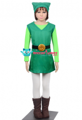 The Legend of Zelda Four Swords Link Green Cosplay Costume