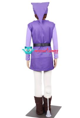 The Legend of Zelda Four Swords Link Purple Cosplay Costume