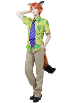 Fox Nick Wilde Cosplay Costume Inspired From Zootopia