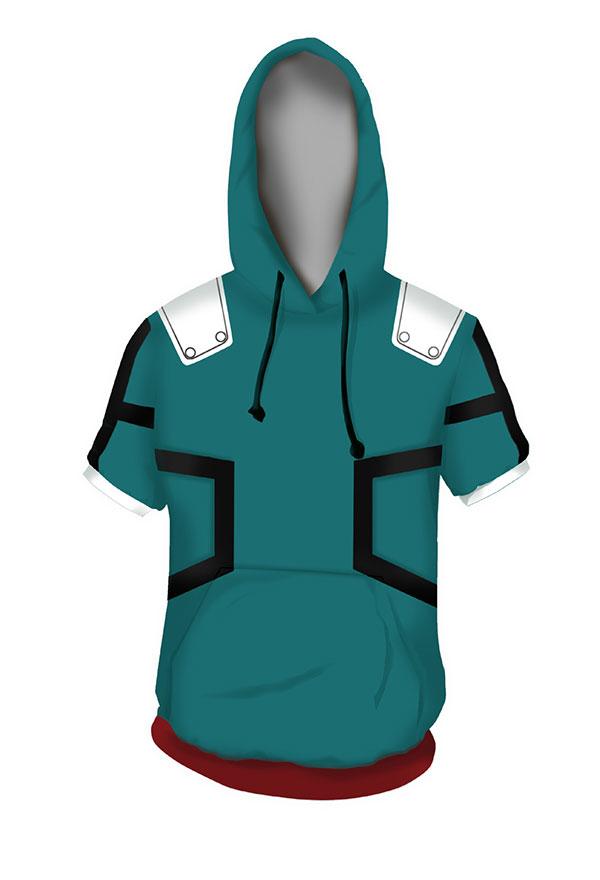 My Hero Academia Izuku Midoriya T-Shirt Cosplay Costume Short Sleeve T Shirts