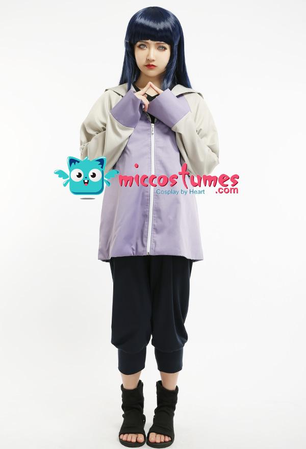 Shippuden Hyuga Hinata Cosplay Costume Ninja Cosplay Uniform Women Party Outfit