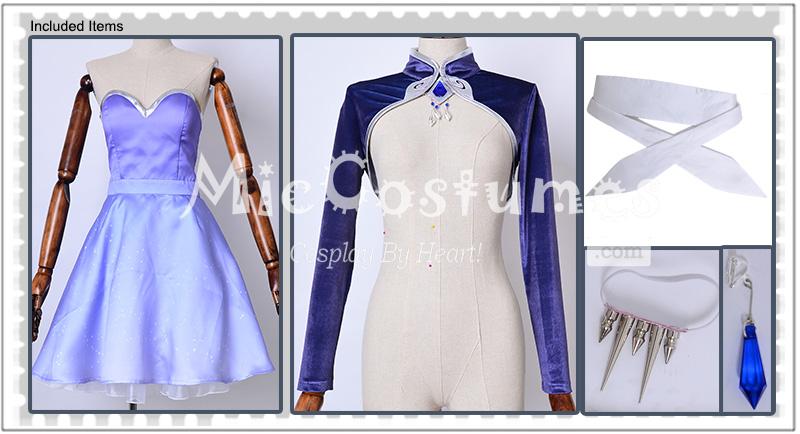 c650219c20a76 RWBY Volume 4 Weiss Schnee Cosplay Short Dress Costume