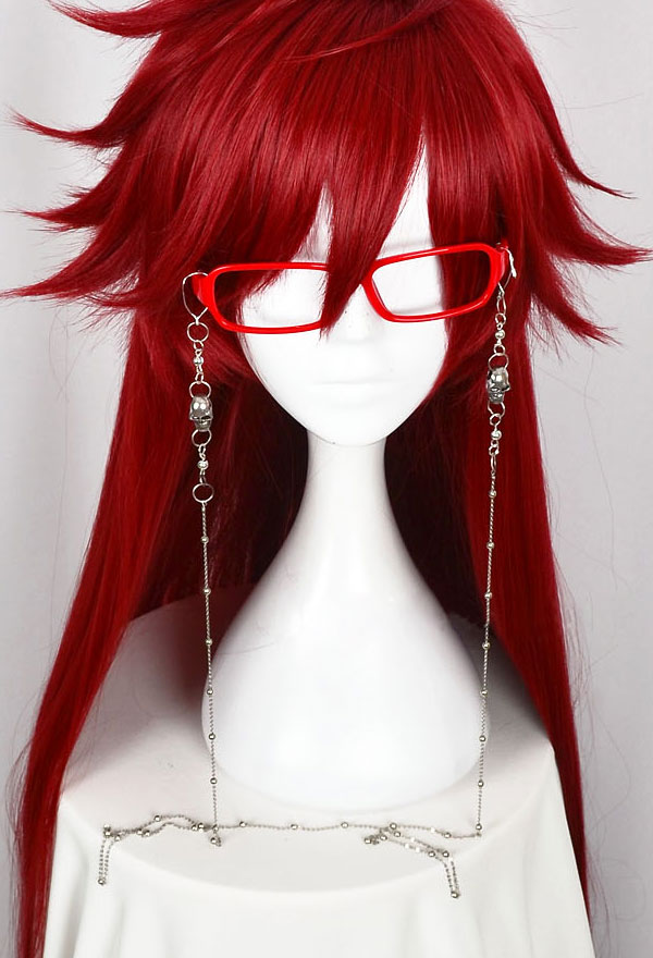 Cosfun Black Butler Grell Sutcliff Glasses Frame /& Chain Cosplay mp000589