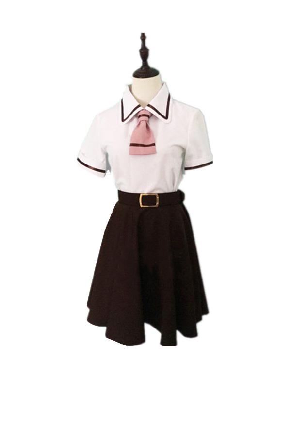 Asobi Asobase Honda Hanako Olivia Nomura Kasumi Cosplay Costume School Uniform