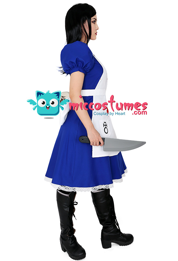 Details about  /Alice Madness Returns Alice Stream Halloween Cosplay Costume Dress{5S