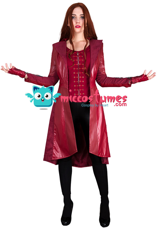 Super Heroine Wanda Maximoff Scarlet Witch Cosplay Costume Coat Inspired By Avengers Infinity War Make To Order