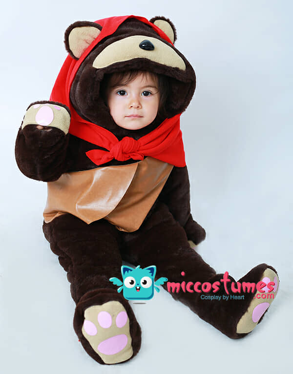 8304e01359c7f Kids Ewok Bear Costume Mascot with Scarf