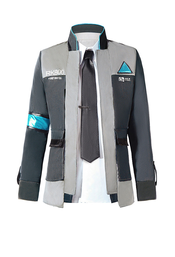 Detroit Become Human Connor Rk800 Agent Suit Uniform Cosplay Costume