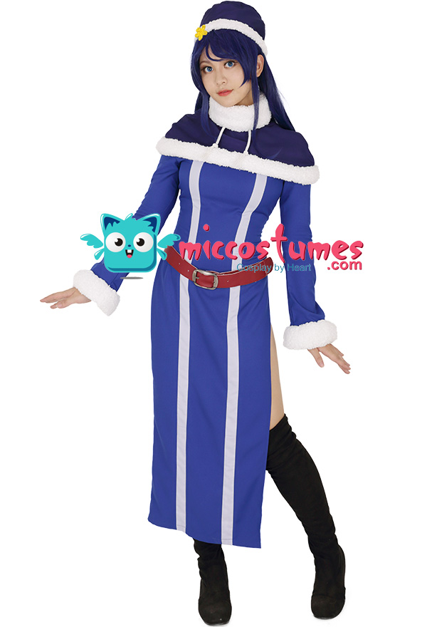 Costume made Hot Anime Juvia Loxar from Fairy Tail Anime Cosplay Costume